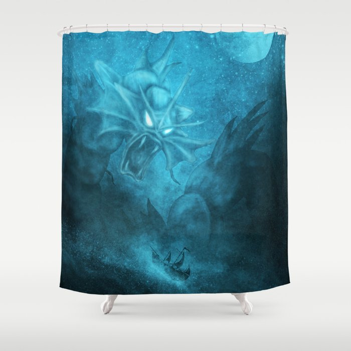 Gyarados Attacking a Pirate Ship Shower Curtain by themindblossom ...