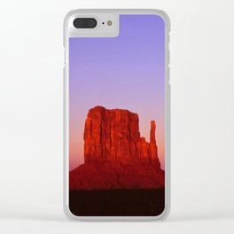 Sunset at Monument Valley Clear iPhone Case