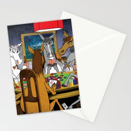 Horses Playing Poker Stationery Cards