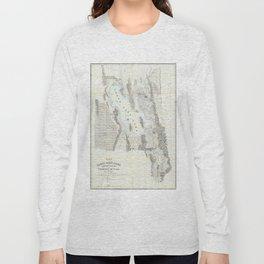 Vintage Map of The Great Salt Lake (1852) Long Sleeve T-shirt
