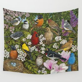 Garden Birds Wall Tapestry