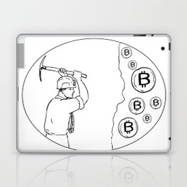Bitcoin Miner Cryptocurrency Drawing Laptop & iPad Skin