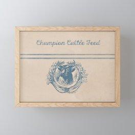 Champion Cattle Feed Framed Mini Art Print