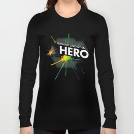 Edward Snowden Prism Hero Long Sleeve T-shirt