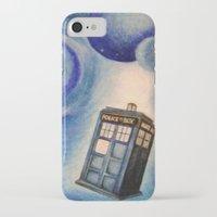 tardis iPhone & iPod Cases featuring TARDIS by Colunga-Art