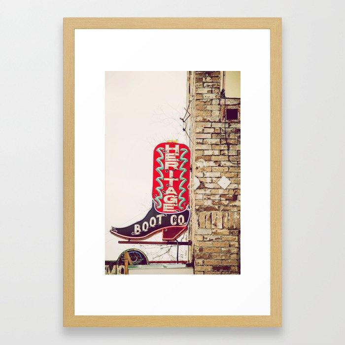 Austin Texas Mikayla Neon: Downtown Austin Texas Neon Framed Art Print By Annbphoto