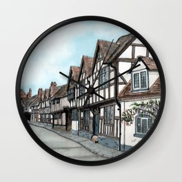 Mill Street South, Warwick U.K. Wall Clock