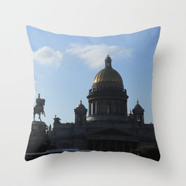 St. Isaac's Square. Saint Isaac's Cathedral. Throw Pillow