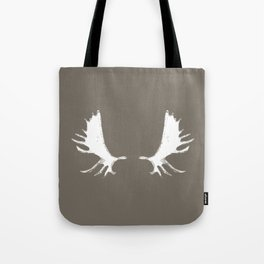 Moose Antlers Silhouettes in Driftwood Brown Tote Bag