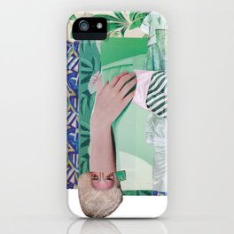 Wanda Goes on Vacation - green modern collage iPhone Case