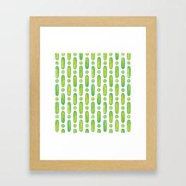 Cucumber Stripes I Framed Art Print