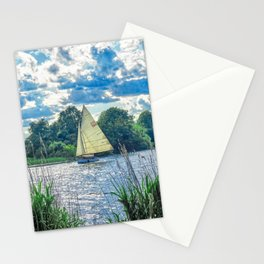 Sailing The River Stationery Cards