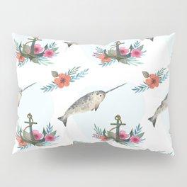 Summertime Nautical Narwhal Pillow Sham