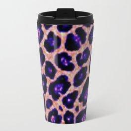 purple cheetah Travel Mug