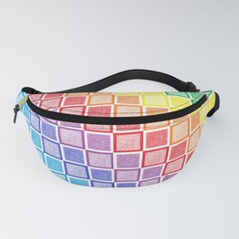 Static Rainbow Squares Fanny Pack