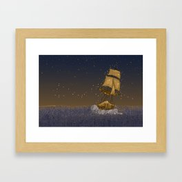Enchanted Ship Framed Art Print