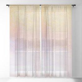 Summer Sunset Ocean Mist Minimalism Sheer Curtain