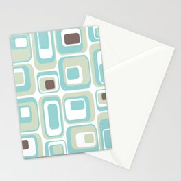 Retro Rectangles Mid Century Modern Geometric Vintage Style Stationery Cards