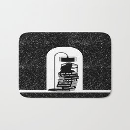 CAT READING SHAKESPEARE Bath Mat