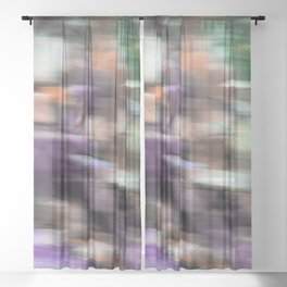 Fast in Flight - A Colorful Abstract Motion Blur Sheer Curtain