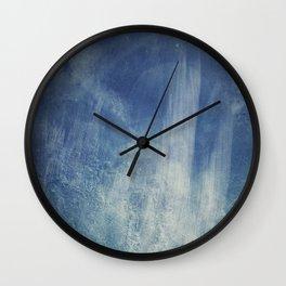 texture bleue Wall Clock