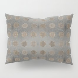 Lace Coin Polka Dots Pattern with Silver Leaf Background Pillow Sham
