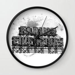 Farine Five Roses in B&W Wall Clock