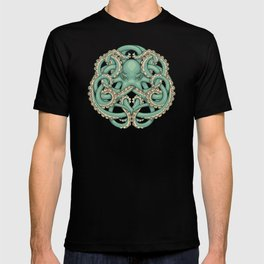 Octopus Emblem Green T-shirt