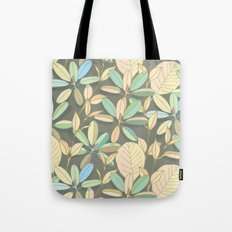 Leaf pattern   brown, pale yellow and green Tote Bag