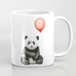 Panda and Red Balloon Baby Animals Watercolor Coffee Mug