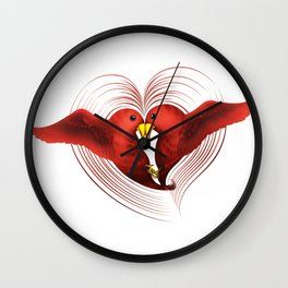 HeartBirds Wall Clock