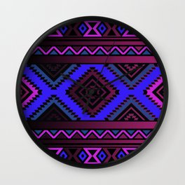 Purple Pendleton Wall Clock