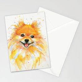 Happy Pomeranian Stationery Cards