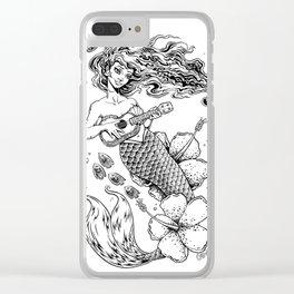 Ukulele Mermaid Clear iPhone Case