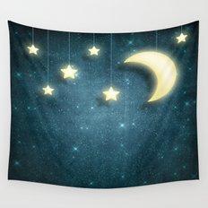 Moon & Stars 01 Wall Tapestry