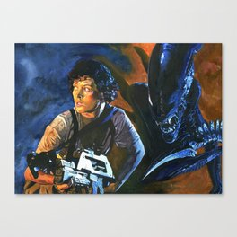 Ripley and the Alien Canvas Print