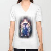 tardis V-neck T-shirts featuring Tardis by jasric