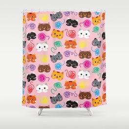 Cats Love String I Shower Curtain