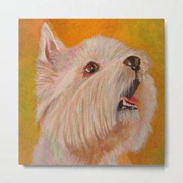 Westhighland White Terrier Portrait Metal Print