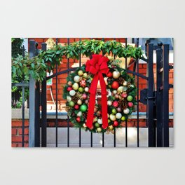 Wreath On The Gate Canvas Print