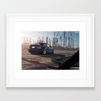 bmw Framed Art Prints featuring BMW 135i by 1013MM