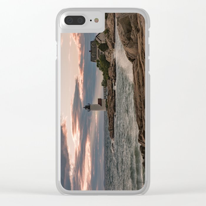 Annisquam Lighthouse sunset Clear iPhone Case
