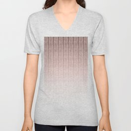 Pink-beige stripes. Unisex V-Neck