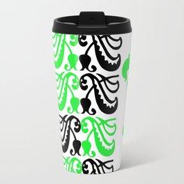 Fluer de Lis Custom Green Travel Mug
