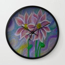Mystic Flora Wall Clock