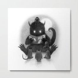 Story Time (black and white option) Metal Print