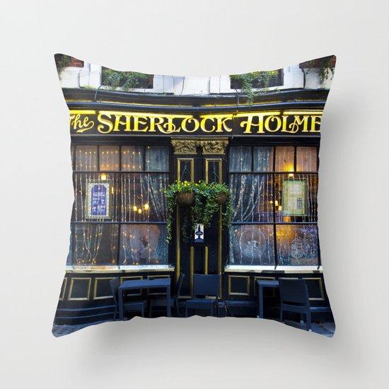 The Sherlock Holmes Pub London Throw Pillow