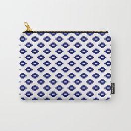 Navy Woven Diamonds Carry-All Pouch