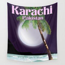Karachi Pakistan beach poster. Wall Tapestry