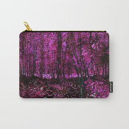 Vincent Van Gogh Trees & Underwood Pink Purple Carry-All Pouch